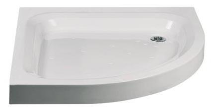 G Classic Anti-Slip Traditional Offset Quadrant Stone Resin Deep Shower Tray 900mm x 760mm Right Hand
