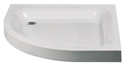 Lakes Traditional Offset Quadrant Stone Resin Deep Shower Tray 1000mm x 800mm Left Hand