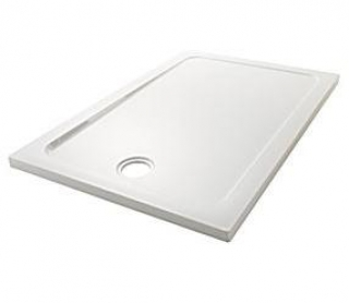 Mira Flight Safe Low 760mm x 760mm Square Shower Tray Anti-Slip 4 Upstands