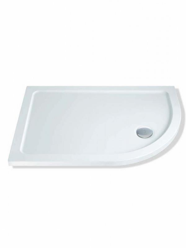 MX Durastone 900mm x 760mm Low Profile Offset Quadrant Shower Tray Right Hand XPZ