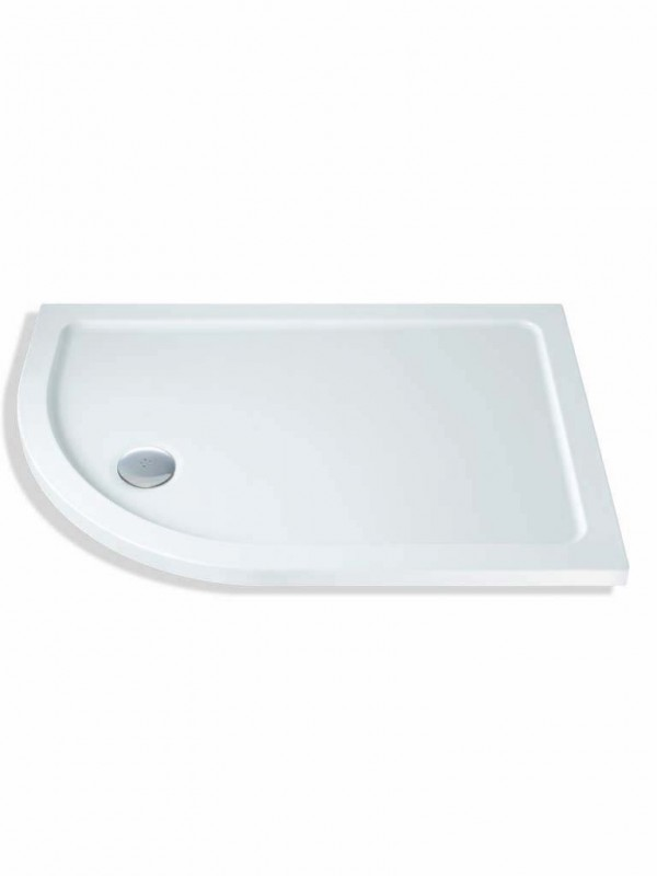 MX Durastone 900mm x 800mm Low Profile Offset Quadrant Shower Tray Left Hand XFX